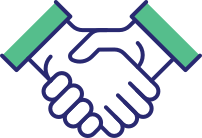 Icon depicting shaking of hands